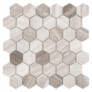 WOODSTONE GREY HEXAGON 48